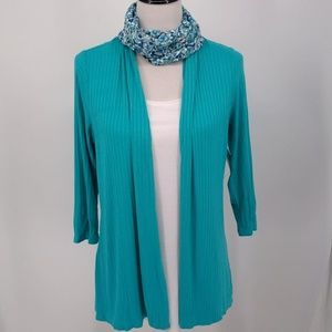 New Notations Medium Blouse with Infinity Scarf